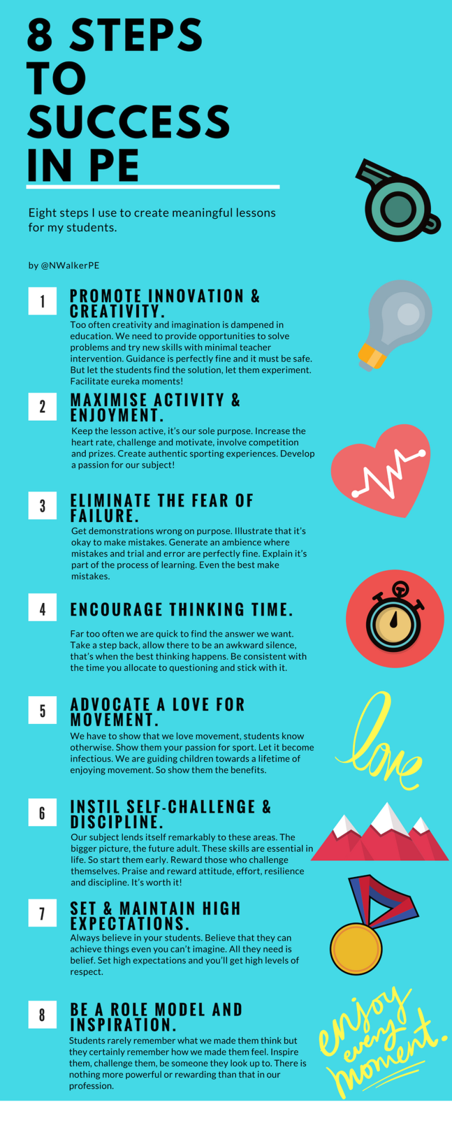 8 Steps to Success in PE